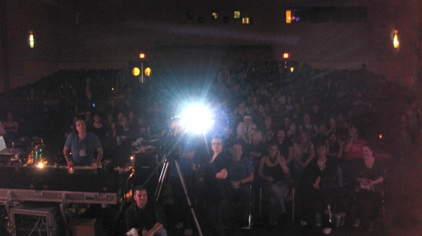 audience from stage